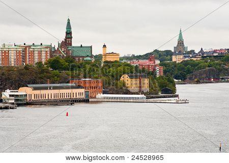 View On City, Danvikshem, Sofia Church In Stockholm
