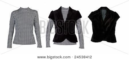 A Collage Of Patterned Blouses With