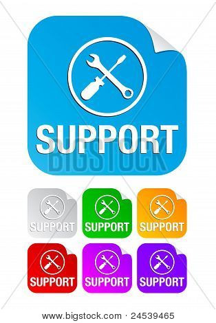 support,square stickers