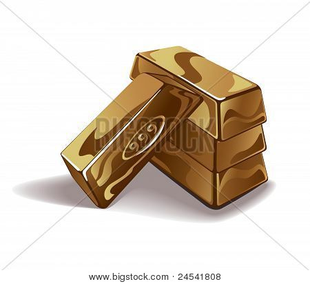 Gold bars vector illustration