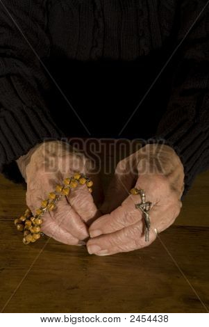 Hands With Rosary