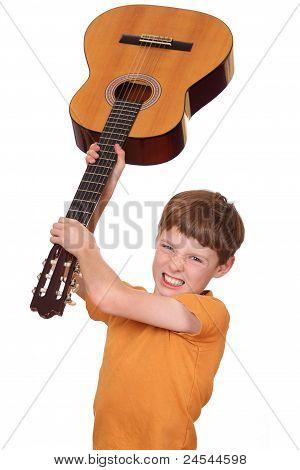 Angry Guitar Player