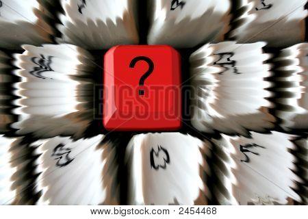 Fragezeichen auf Tastatur