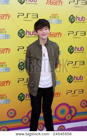 LOS ANGELES - OCT 22:  Greyson Chance arriving at the 2011 Variety Power of Youth Evemt at the Paramount Studios on October 22, 2011 in Los Angeles, CA