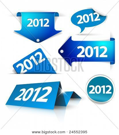 Vector 2012 Labels, stickers, pointers, tags for your (web) page