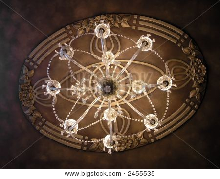 Looking Up Through A Chandelier
