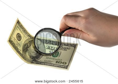 Magnifying And Dollar