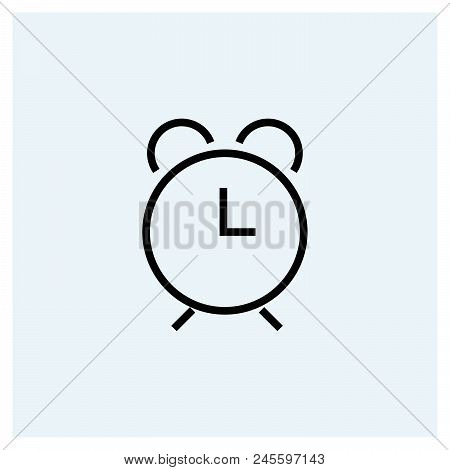 Alarm Clock Icon Vector Icon On White Background  Alarm Clock Icon Modern  Icon For Graphic And Web D poster