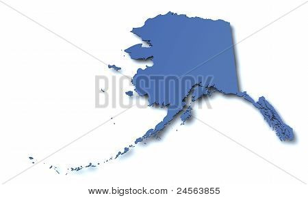 Map of - Alaska USA