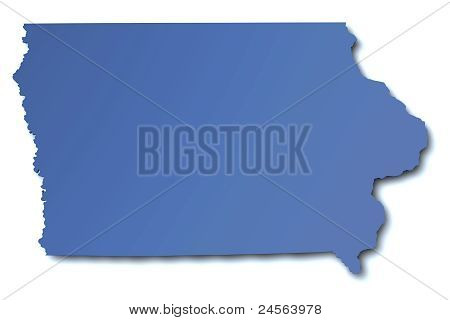 Map of Iowa - USA