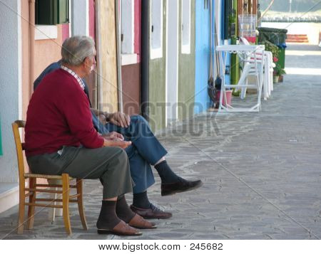 Elderly People Talking