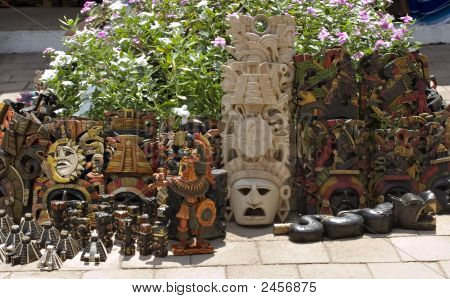 Mayan Masks And Souvenirs