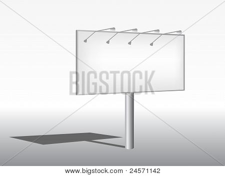Outdoor big advertising construction