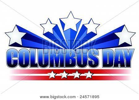 dia de Colombo ilustração design em branco
