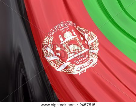 Glossy Flag Of Afghanistan