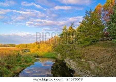 Creek, Rural Illinois