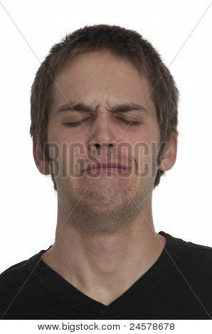 Crying Teenage Boy