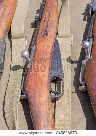 Several Old Rifle Of Period