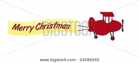 merry christmas plane