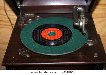 Phonograph With Record
