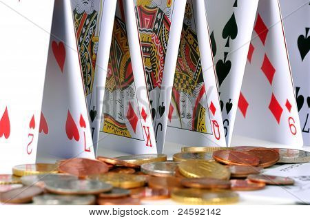 Castle Of Cards And Coins