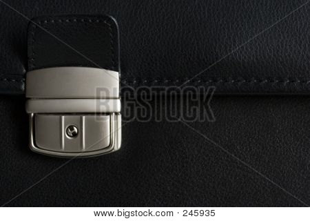 Leather Briefcase Buckle In Detail