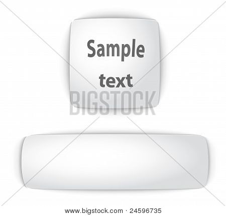 Sample blank convex web buttons