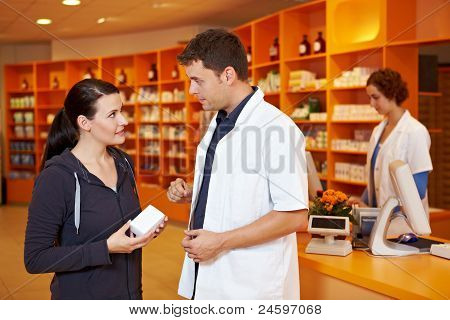 Pharmacist Selling To Customer