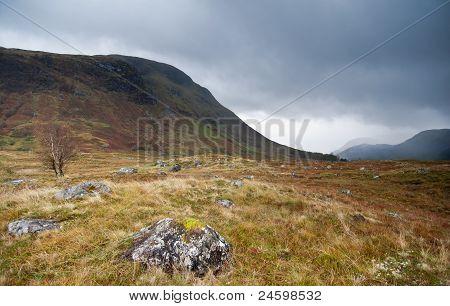 Scottish Glen Next To Fort William, Scotland
