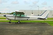 stock photo of cessna  - Small Cessna airplane ready for recreational flying - JPG