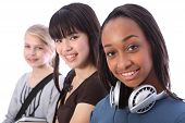 African American Teenage Student Girl And Friends
