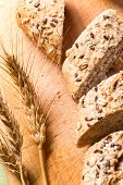 Bread With Seeds Sliced. Closeup Bread Sliced. poster