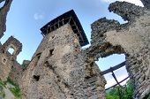 stock photo of zakarpattia  - Nevitsky Castle ruins Zakarpattia Oblast Ukraine Built in 13th century - JPG