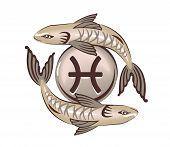 foto of vedic  - Pisces zodiac sign - JPG