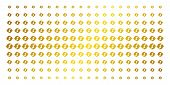 Refresh Icon Golden Halftone Pattern. Vector Refresh Objects Are Arranged Into Halftone Matrix With  poster