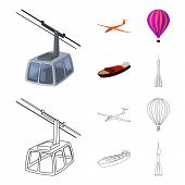 A Drone, A Glider, A Balloon, A Transportation Barge, A Space Rocket Transport Modes. Transport Set  poster