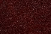Exquisite Leather Texture In Contrast Dark Red Colour. High Resolution Photo. poster