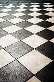 stock photo of ceramic tile  - floor pattern in high contrast - JPG