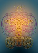picture of peppy  - A ornamental illustration in the celtic knots style - JPG