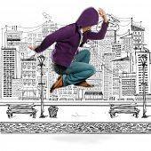 Постер, плакат: улица танцор танцевать как Майкл Джексон