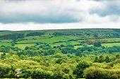 A View Of The Farmland Inside Dartmoor National Park, Devon, United Kingdom poster