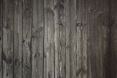 Grey Wooden Fence - Background Textural Grey Rustic Wooden Fence poster