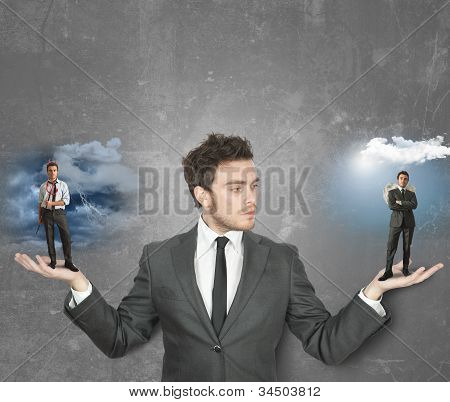 Businessman With Devil Or Angel