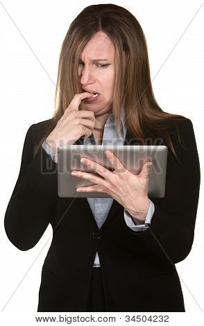 Confused Woman With Tablet