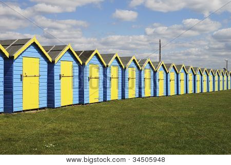Beach Huts At Bognor Regis. England