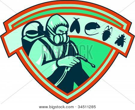 Pest Control Exterminator Worker Shield