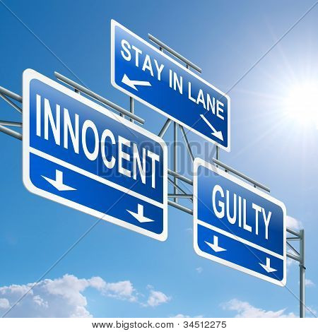 Culpado ou inocente.