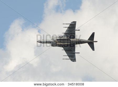 Modern Jetfighter Vertical Takeoff