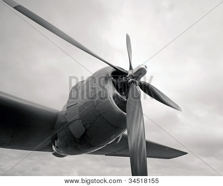 Giant Engine And Propeller