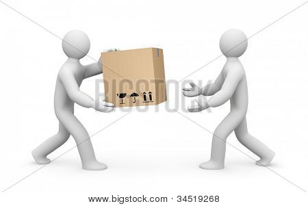 Delivery. Image contain clipping path